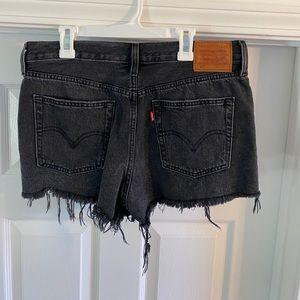 LEVI'S black denim shorts, Worn once